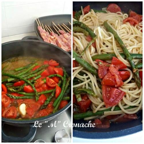 spaghetti asparagi e pomodorini
