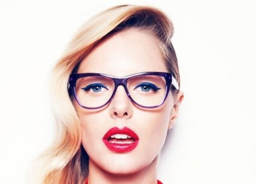 trucco con gli occhiali