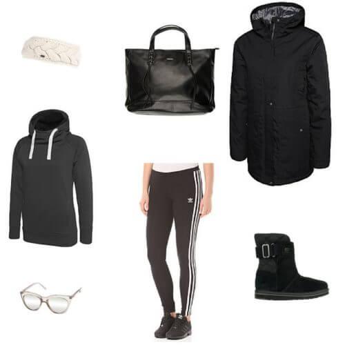 outfit inverno comodo per mamme