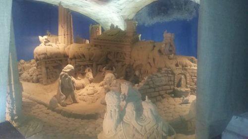 natale a Roma presepe di sabbia