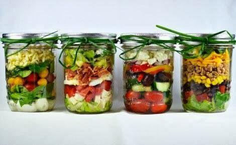 insalata nel barattolo