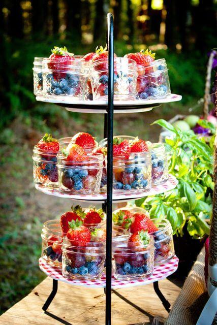 buffet barattoli compleanno