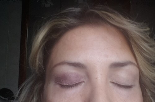 ombretto viola smokey eye