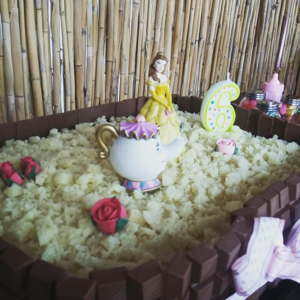 torta compleanno la bella la bestia