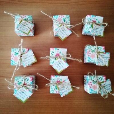 bomboniere scatolina di cartone